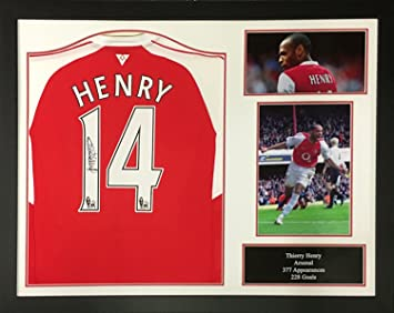 cdec03627 Thierry Henry signed and framed Arsenal shirt with COA and proof - Exclusive  Thierry Henry supplier