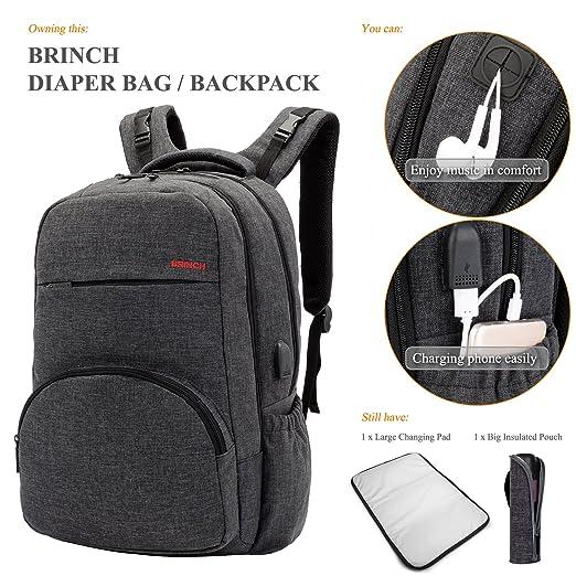 c1c1e5b26b40 Amazon.com   Baby Diaper Bag Backpack with USB Charging Port