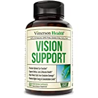 Vision Support Eye Vitamins Formula with Lutein, Zeaxanthin, Zinc, Copper, Vitamin B12 E C. Enhanced Blend of Herbs, Multivitamins and Minerals. Supplement for Eyes Health. 60 Capsules