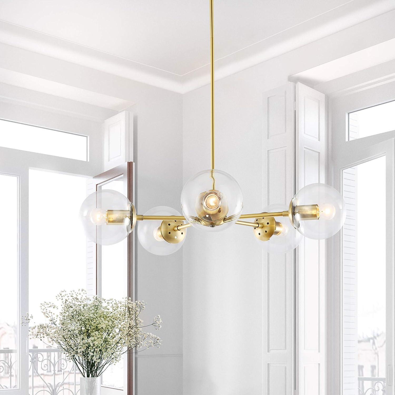 Light Society Grammercy 12-Light Chandelier Pendant, Polished Brass