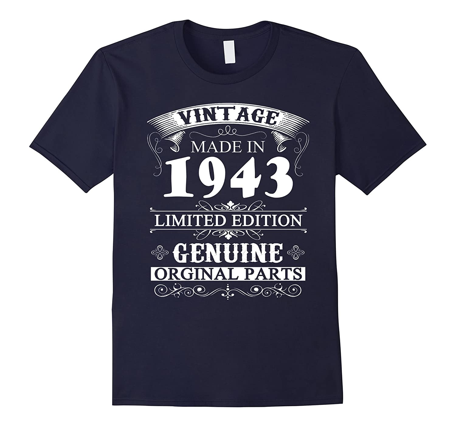 Vintage 1943 74 years old - 74th Birthday Tshirt-CD