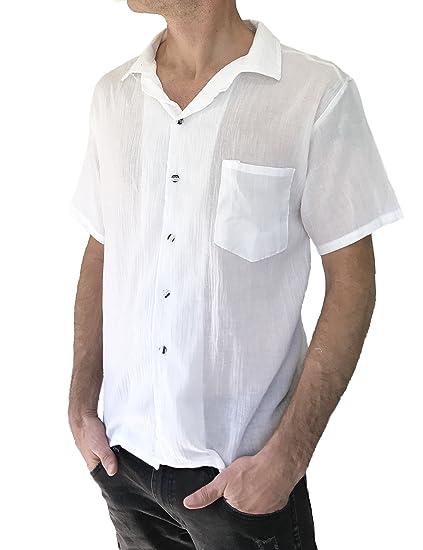 389db69f37 Love Quality Men's Button Shirt Light Weight 100% Cotton Hippie Casual  Shirts (Medium,