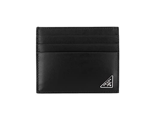 e54a754e4b6e Prada Vitello Calfskin Leather Card Case, Black (Nero) 2MC223 at ...