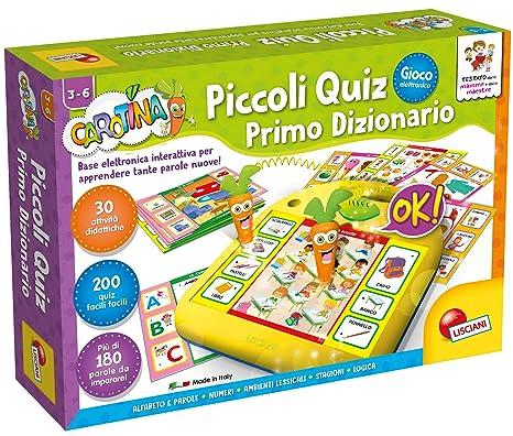 Lisciani Giochi 49141 Carotina Piccoli Quiz Primo Dizionario Amazon