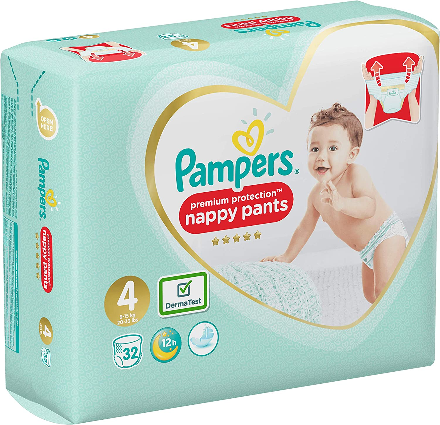 x32 culottes Active Fit Pants 8-14 kg Couches-culottes Taille 4 Pampers - Pack G/éant