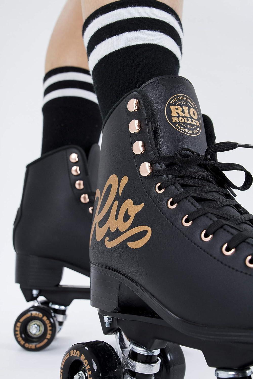 Rio Roller Rose Quad/Roller Skates- Black - 2
