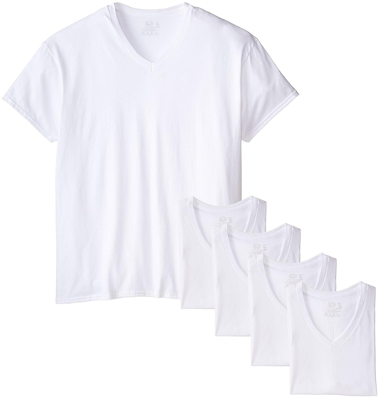 Fruit of the Loom Men's Extended Sizes V-Neck T-Shirt(Pack of 5) 5P2626X