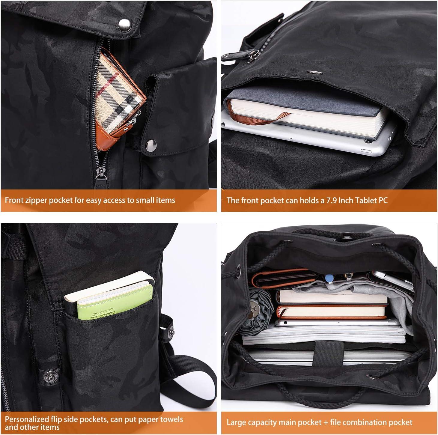 Wind Took Mochila Universitaria Mujer de Lona 15.6 Pulgadas Mochila Ordenador Portatil con Puerto de USB para Escolares Mochila de Hombre Multiusos Dackpack para Viaje Trabajo BLU