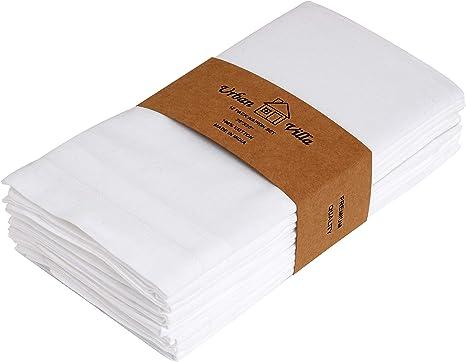 "10 pcs 20/""x20/"" inch Cotton Cloth Napkin White Wedding Linen Restaurant nb"