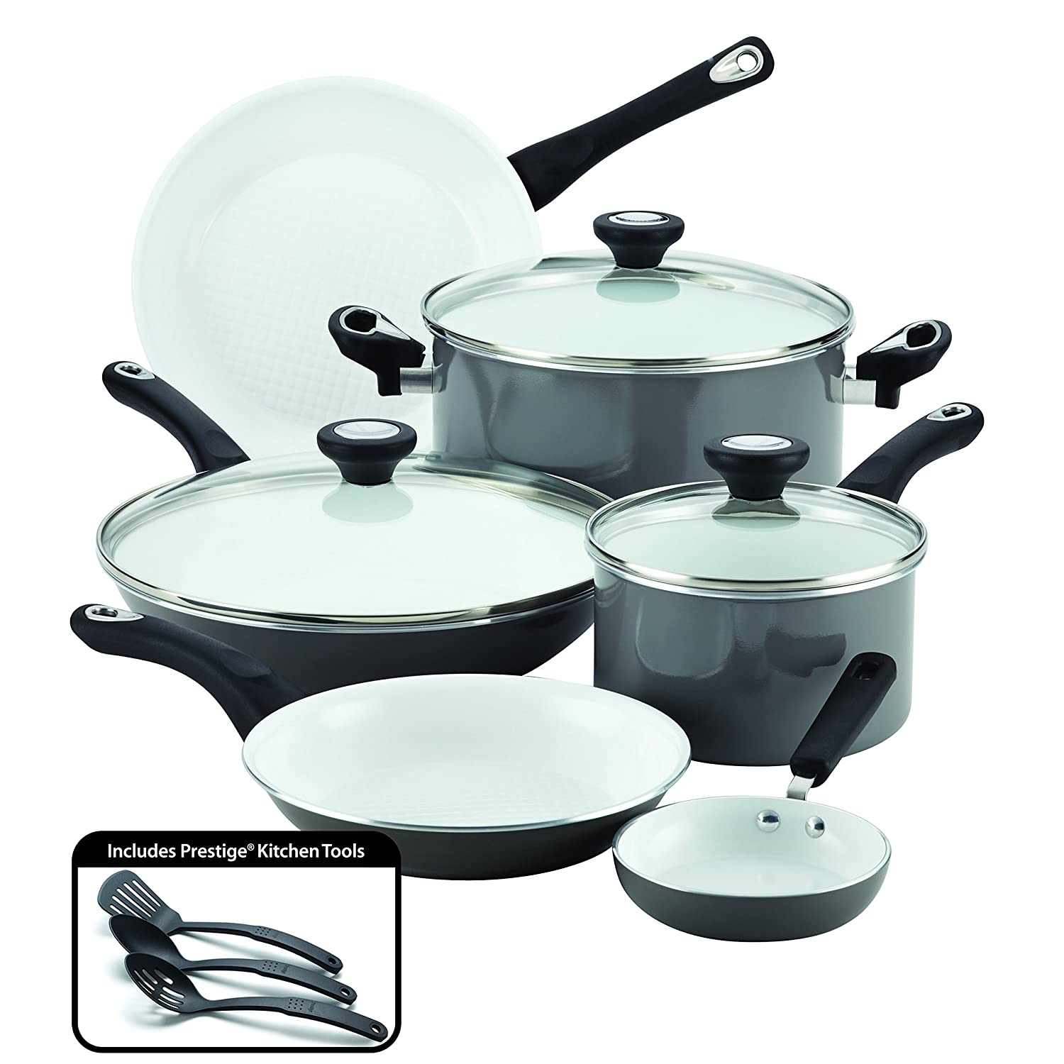 Amazon.com: Farberware Purecook Ceramic Nonstick Cookware 12 Piece ...