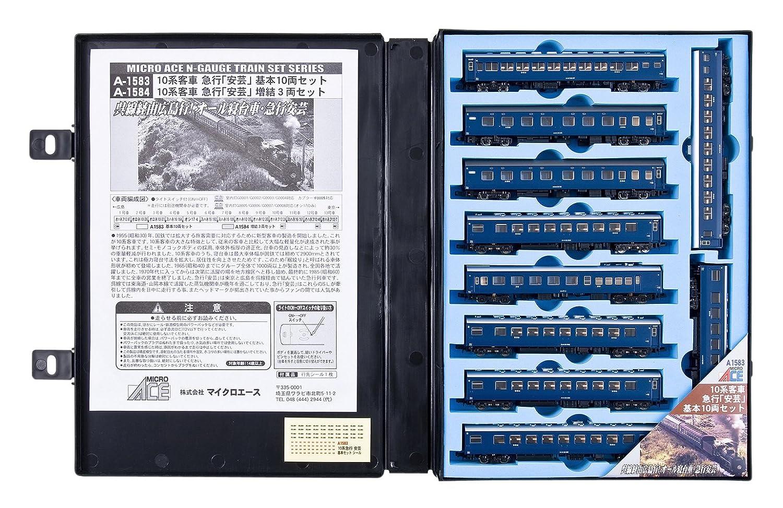 マイクロエース Nゲージ 10系客車 急行「安芸」 基本10両セット A1583 鉄道模型 客車 B001V7SENQ