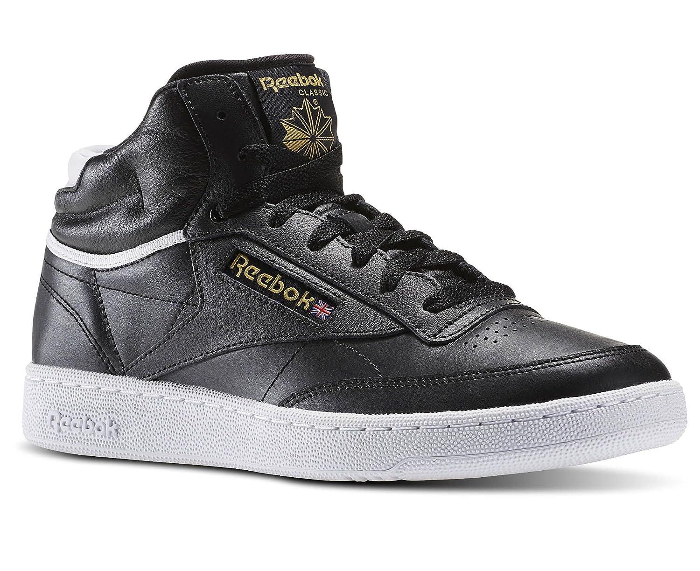 Reebok Club C 85 Mid Sneaker Herren Schwarz, Größe: 38.5 EU