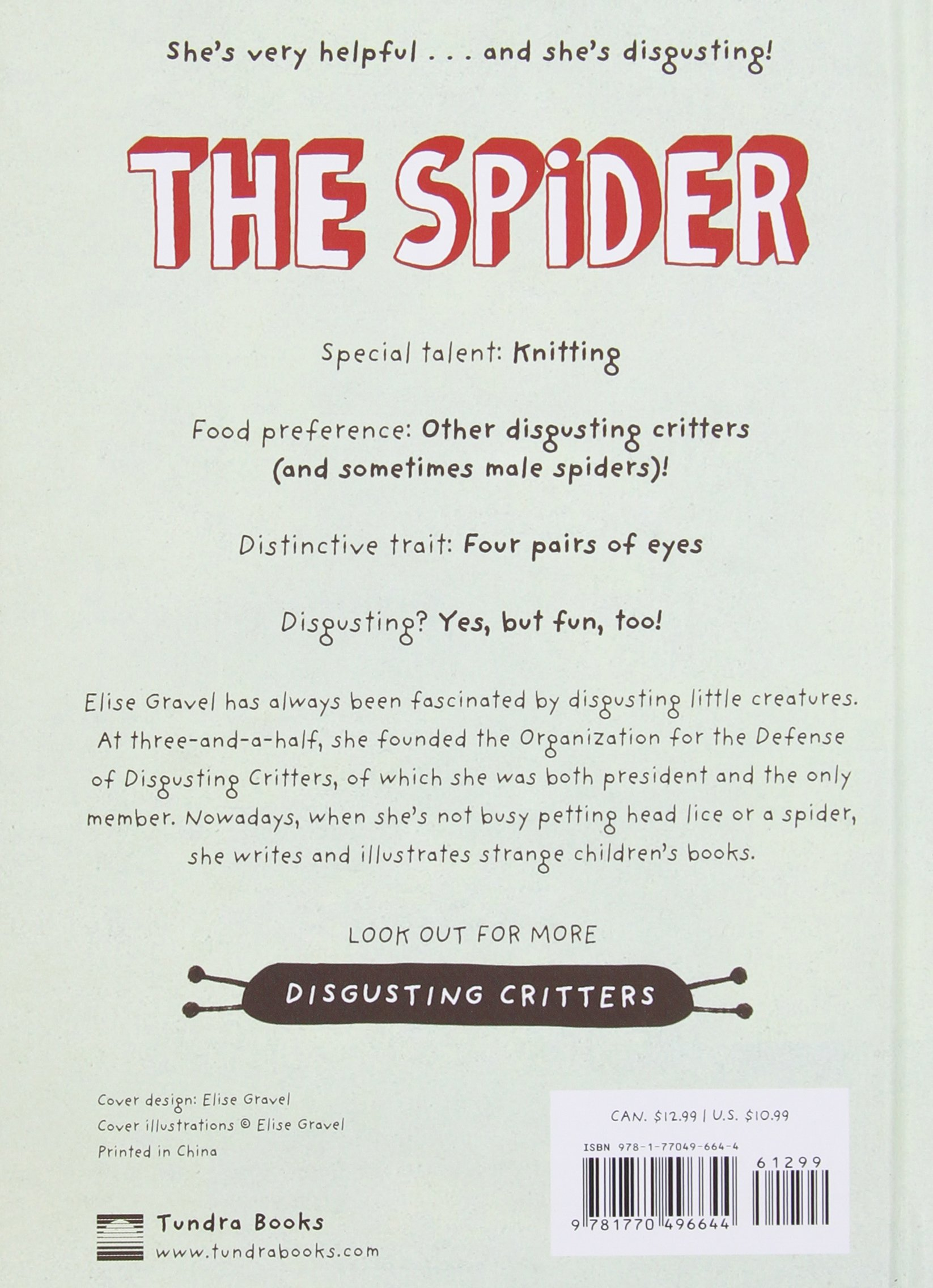 amazon com the spider the disgusting critters series