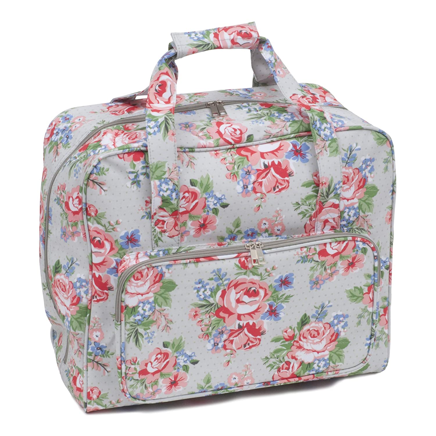 Hobbygift Sewing Machine Bag: Matt PVC: Rose (d/w/h): 20 x 43 x 37cm Groes