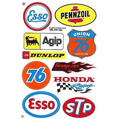 Sponsor Motocross Racing Tuning Motorbike Decal Sticker Sheet C214: Automotive