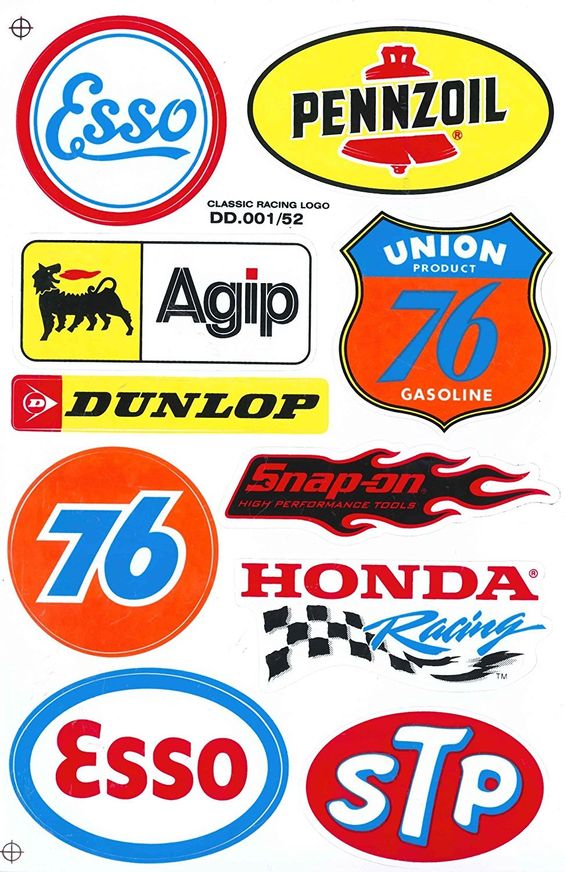 Sponsor Motocross Racing Tuning Motorbike Decal Sticker Sheet C214 Siam Trade COMINU002525