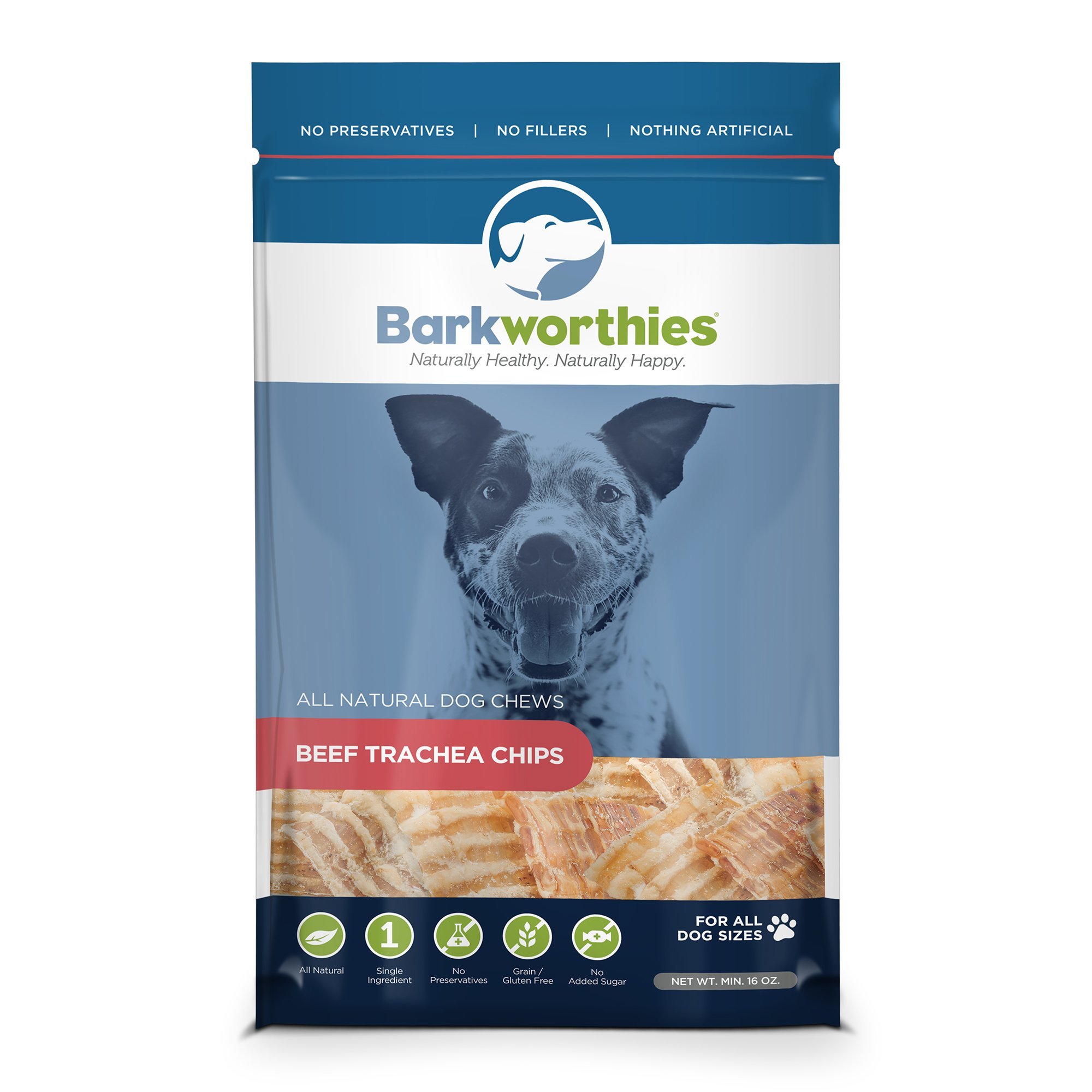 Barkworthies Trachea Chips In Bag For Pets, 1-Pound by Barkworthies