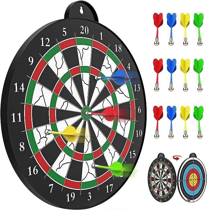 Children Safety Magnetic Dart Board Magnetic Darts Kids Target Indoor O5