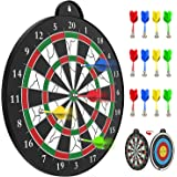 STREET WALK Magnetic Dart Board - 12pcs Magnetic Dart - Excellent Indoor Game and Party Games - Safe Magnetic Dart Board , Bo