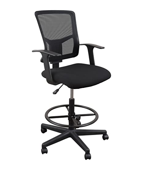 Fine Sit To Stand Drafting Task Stool Chair For Standing Desks With Adjustable Footrest And Armrests 28 Black Download Free Architecture Designs Embacsunscenecom