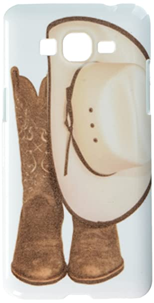 Image Unavailable. Image not available for. Color  Cowboy Hat and Western  Boots cell phone cover case Samsung Galaxy Grand Prime G5306 f300cbc9cad8