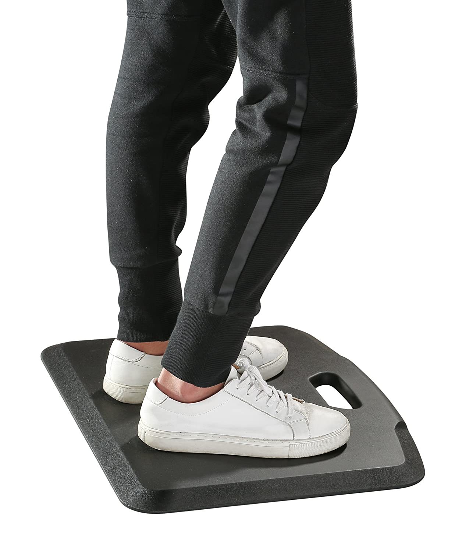 Wymo Portable Anti-Fatigue Mat Comfort Standing Desk (Black)