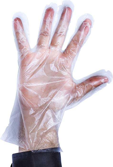 Disposable Gloves, 1000 Poly Food Service Gloves, Powder and Latex Free by Upper Midland