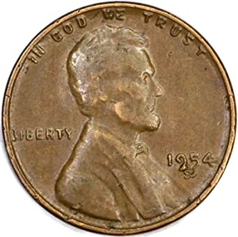 1954-S LINCOLN WHEAT CENT ROLL nice condition