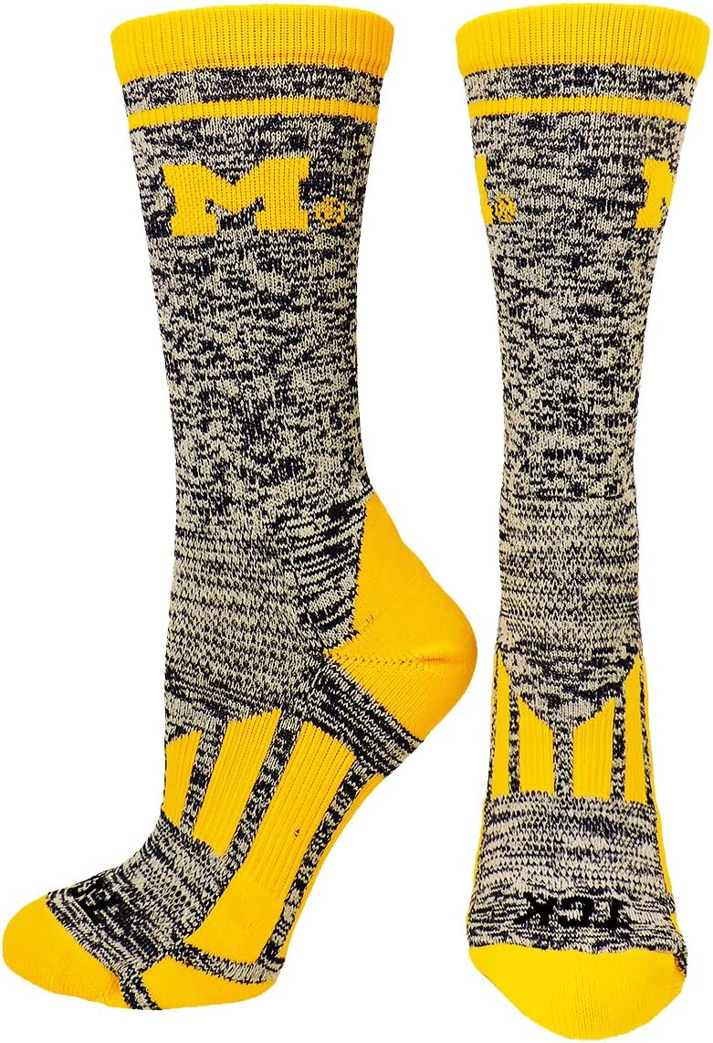 TCK University of Michigan Wolverines Perimeter Crew Socks