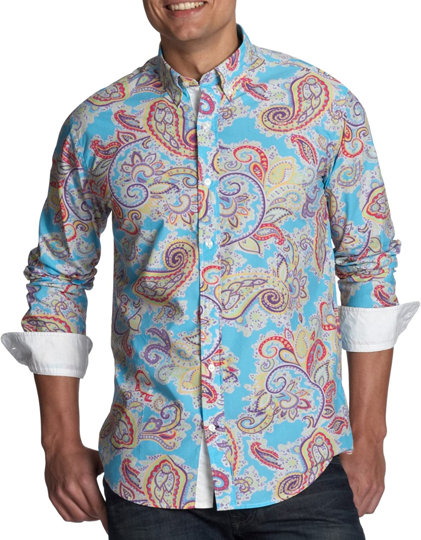 Tommy Hilfiger Summer Paisley PRT VF3 883225846 Camisa, Blue (Saba Blue/Multi), Medium para Hombre: Amazon.es: Ropa y accesorios