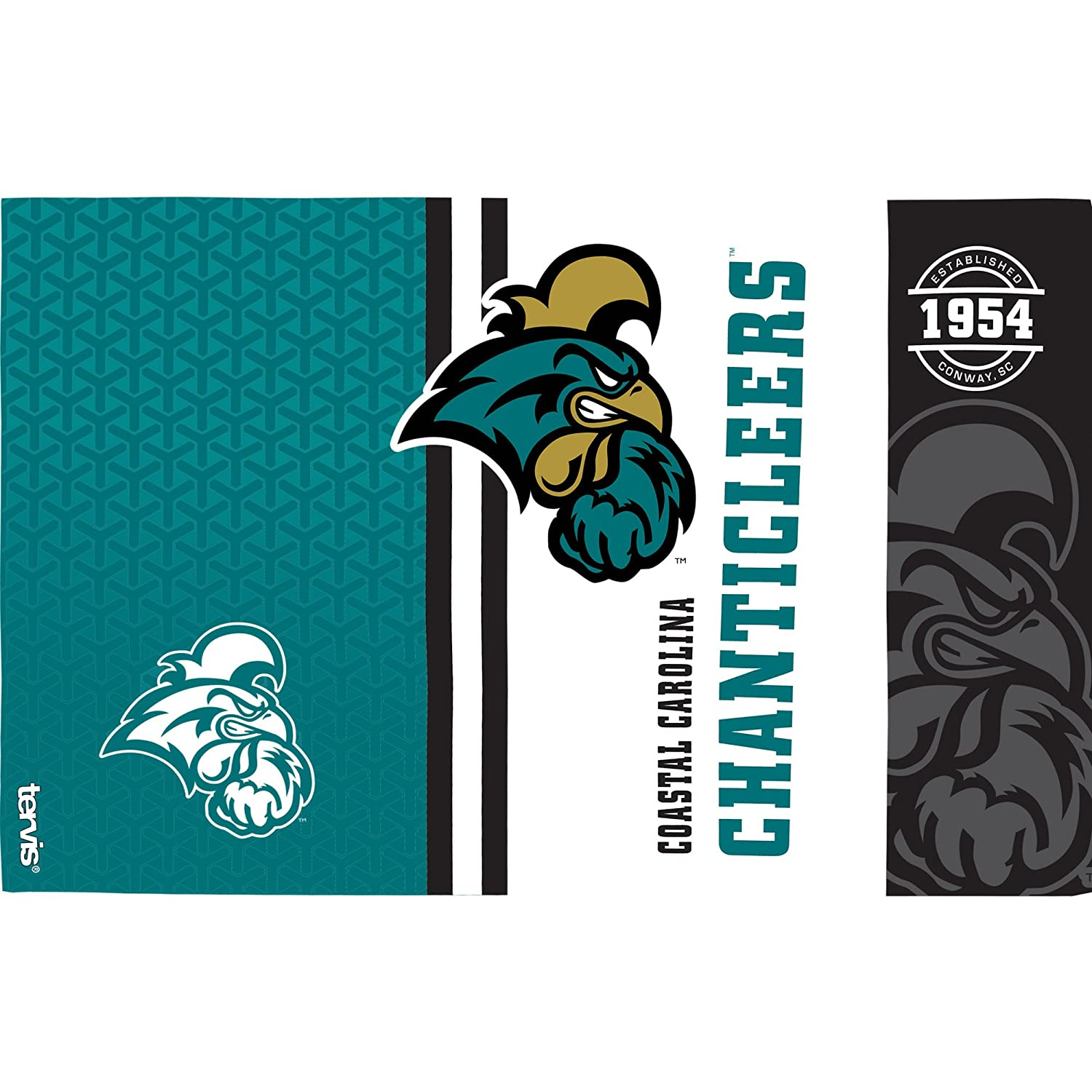 Tervis 1229868 Coastal Carolina Chanticleers College Pride Insulated Tumbler with Wrap 16oz Clear