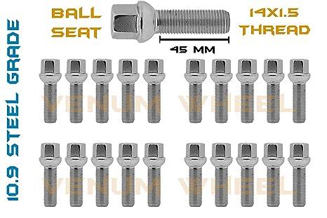 (20) Mercedes Benz Ball Seat 14x1 5 45mm Stock Lug Bolt | W164 GL350 GL450  GL550 ML350 ML63 AMG
