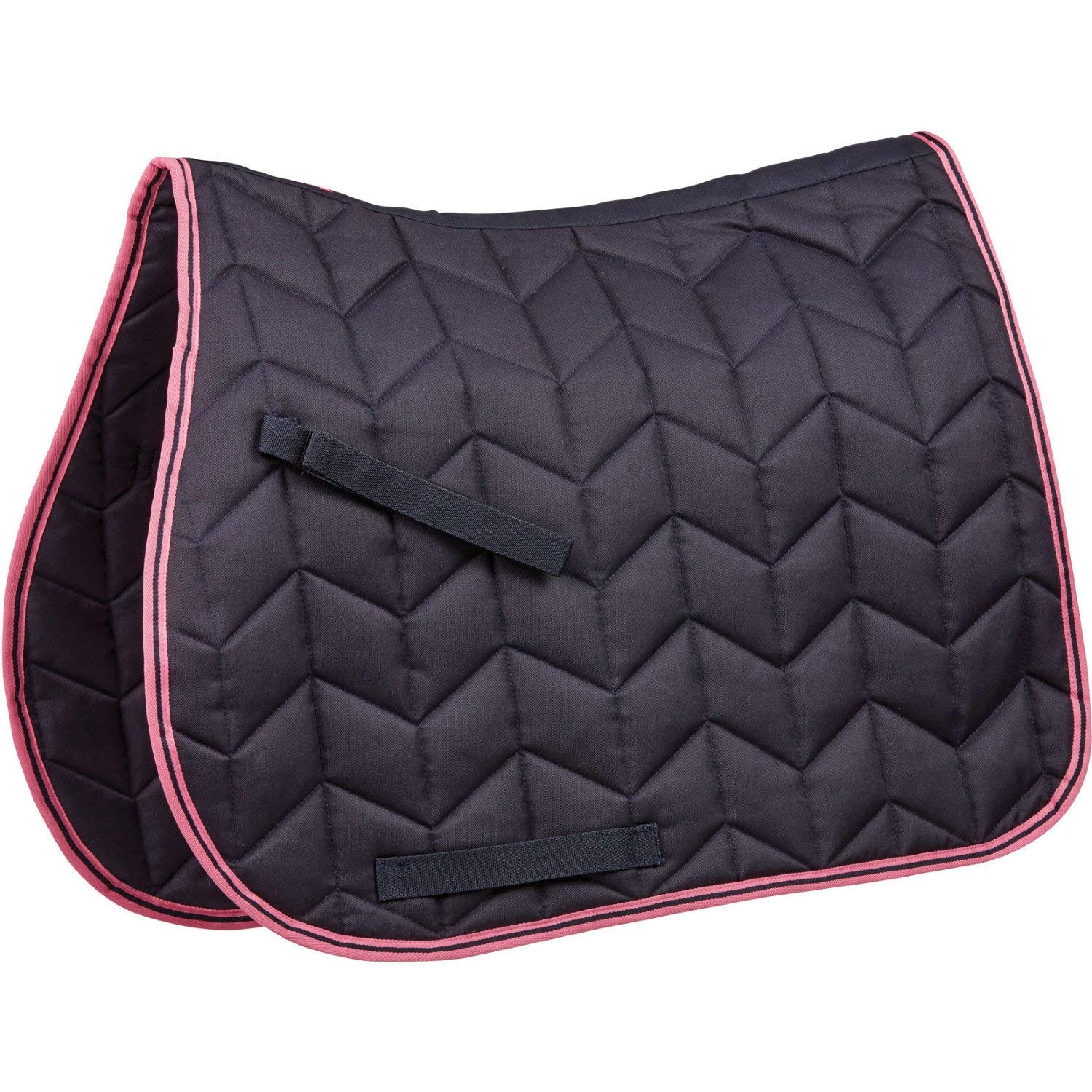 Saxon Element Quilted All Purpose Saddle Pad - Navy/Pink Weatherbeeta