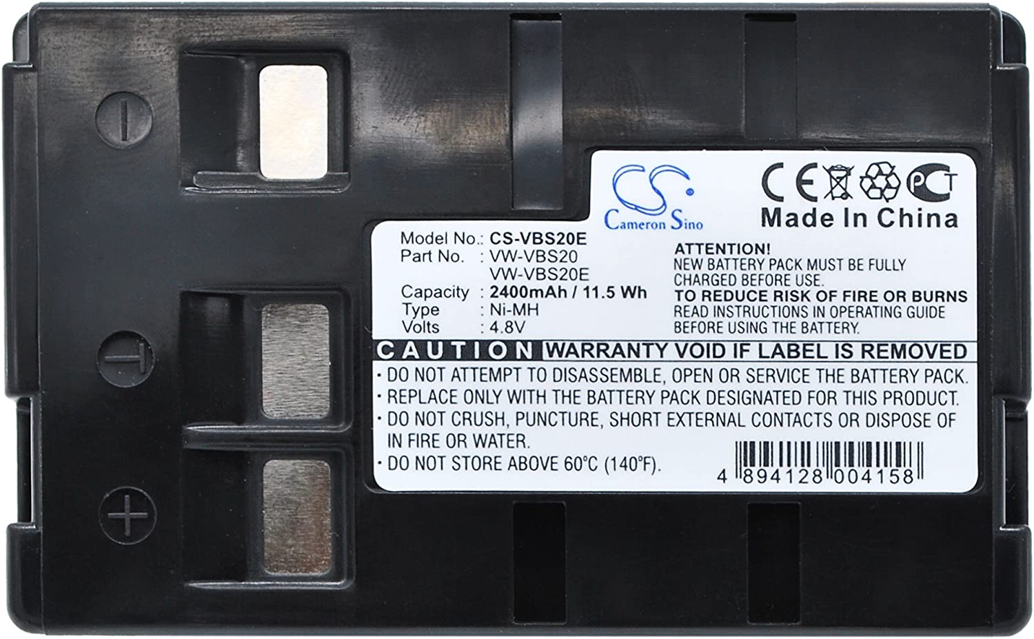 XPS Replacement Battery Compatible with PANASONIC NV-A1 NV-A1EN NV-ALEN NV-CSLEN NV-R00PN and Others