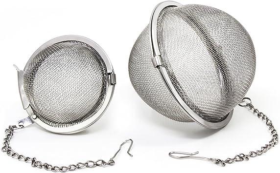 Lot de 2 infuseurs /à th/é en acier inoxydable pour boules /à th/é et /épices