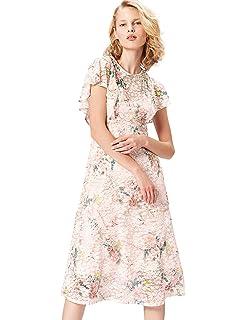 01da46ece FIND Vestido Estampado de Flores Para Mujer  Amazon.es  Ropa y ...