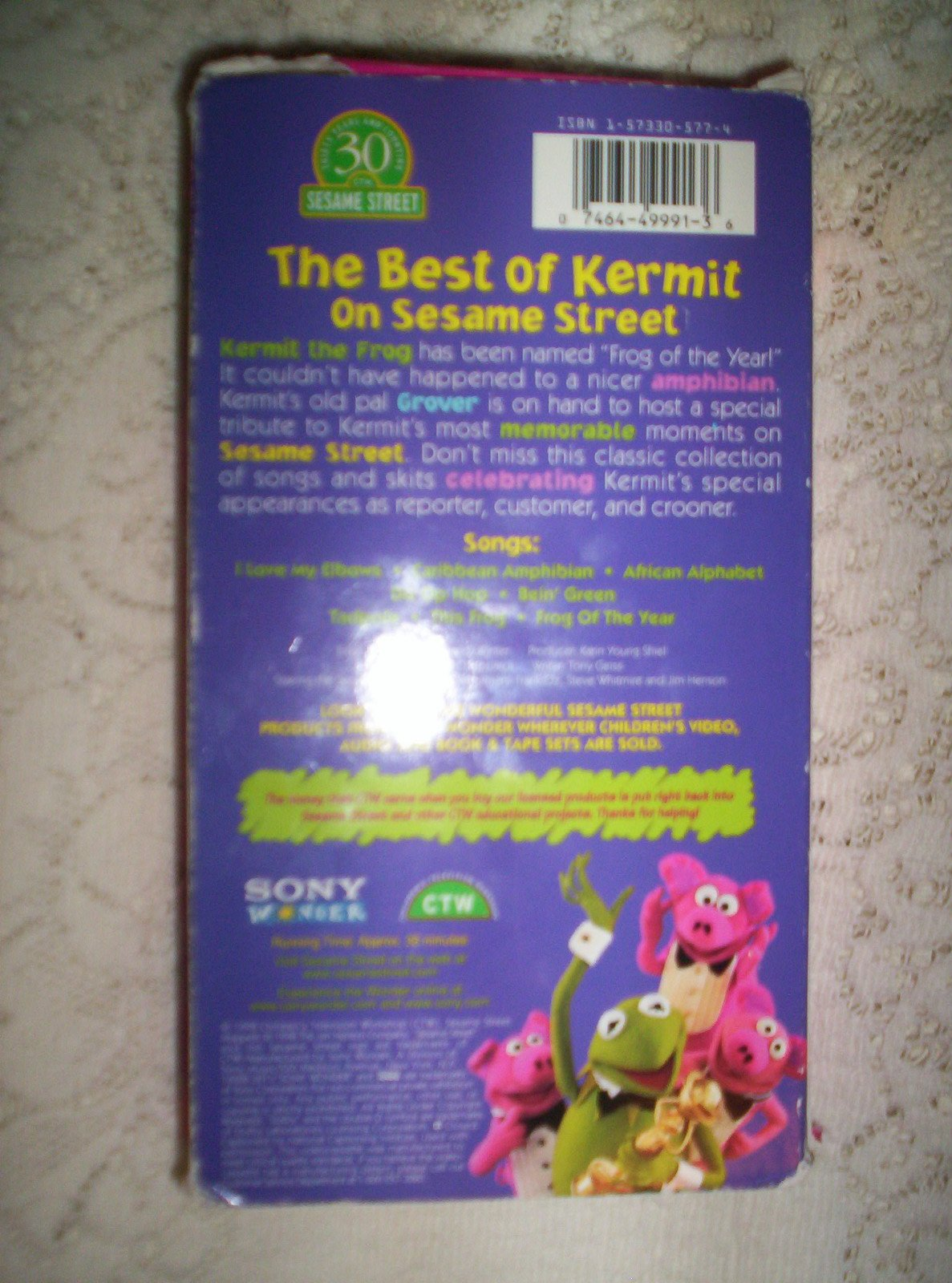 Sesame Street - The Best of Kermit on Sesame Street [VHS] by Sony