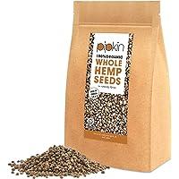 Pipkin SEMI DI CANAPA 100% Bio Organici 500g, Cuori di semi di canapa confezionati con proteine, fibre, vitamine e aminoacidi, senza glutine e ricchi di Omega 3, 6 e 9 – Non-GMO (Interi)