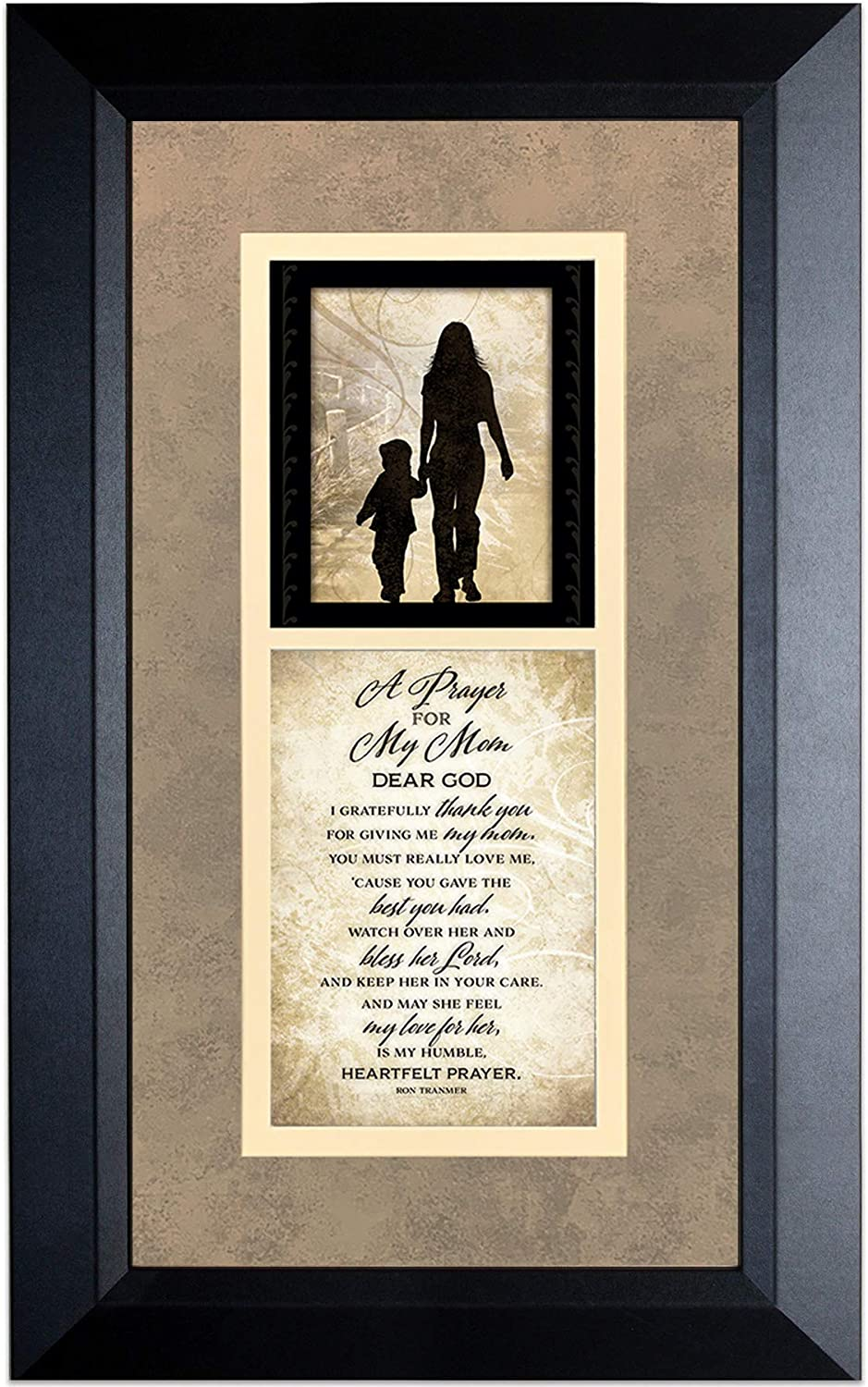 A Prayer for My Mom Wood Wall Art Frame Plaque | 11 inches x 18 inches | Hanger for Hanging | Dear God I Gratefully Thank You for Giving me My Mom James Lawrence