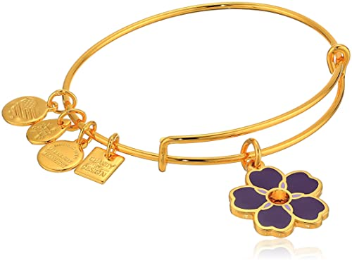 a0243d29b Amazon.com: Alex and Ani Women's Charity by Design, Forget Me Not Charm  Bangle Bracelet, Shiny Gold, Expandable: Jewelry