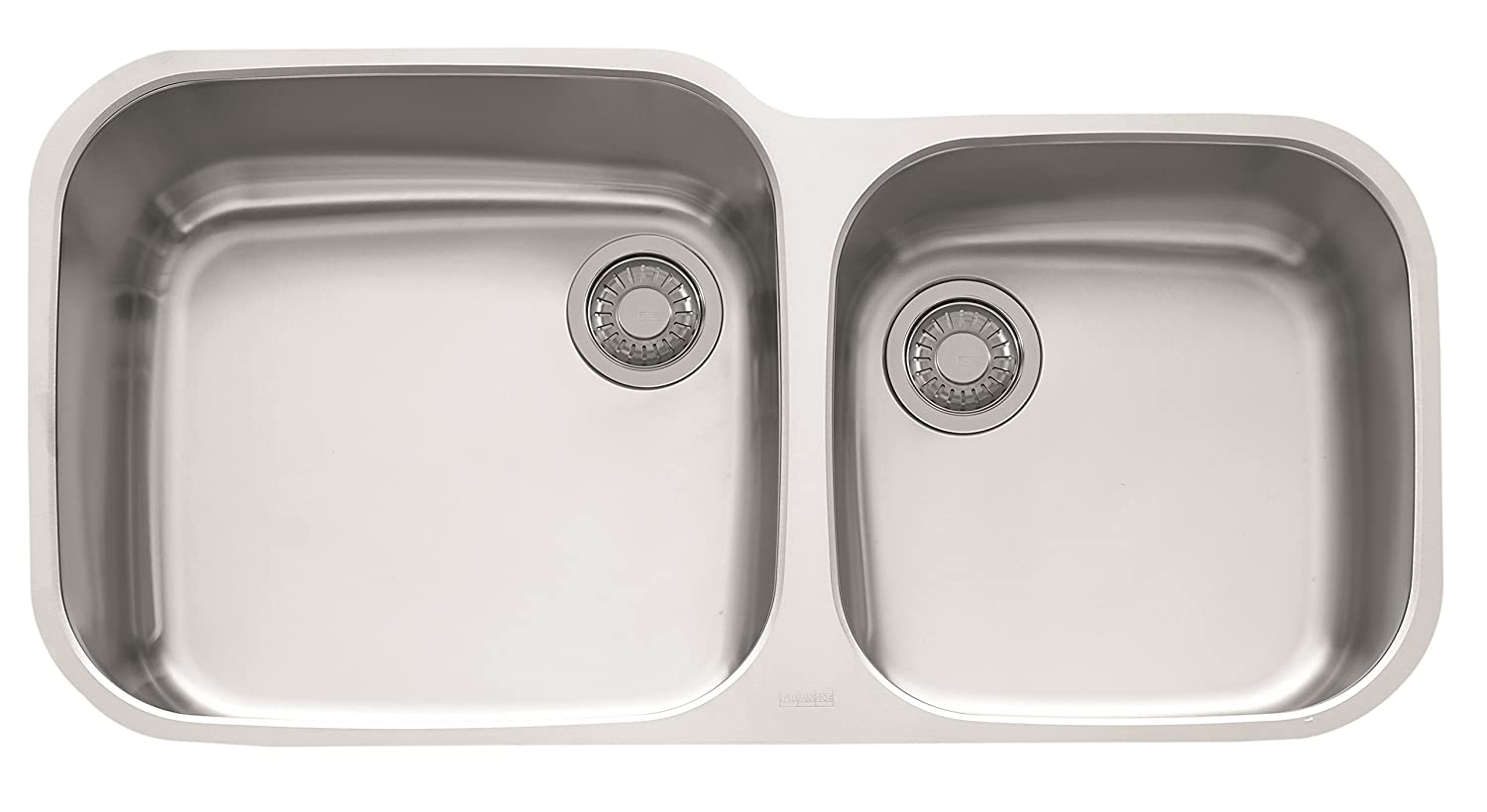 Franke GNX120 Europro 38 3 8 x 19 1 4 x 9 1 16 18 Gauge Undermount Dual Bowl Stainless Steel Kitchen Sink