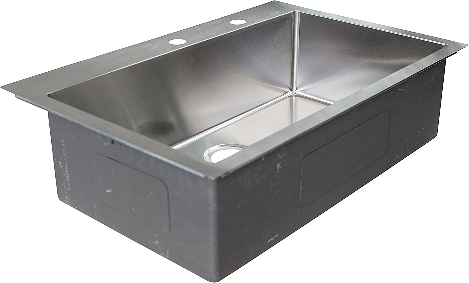Franke Hfs3322 2 Vector 33 5 33 Compatible Dual Mount Single Bowl Kitchen Sink With Two Holes And Fast In Installation System Stainless Steel Amazon Com