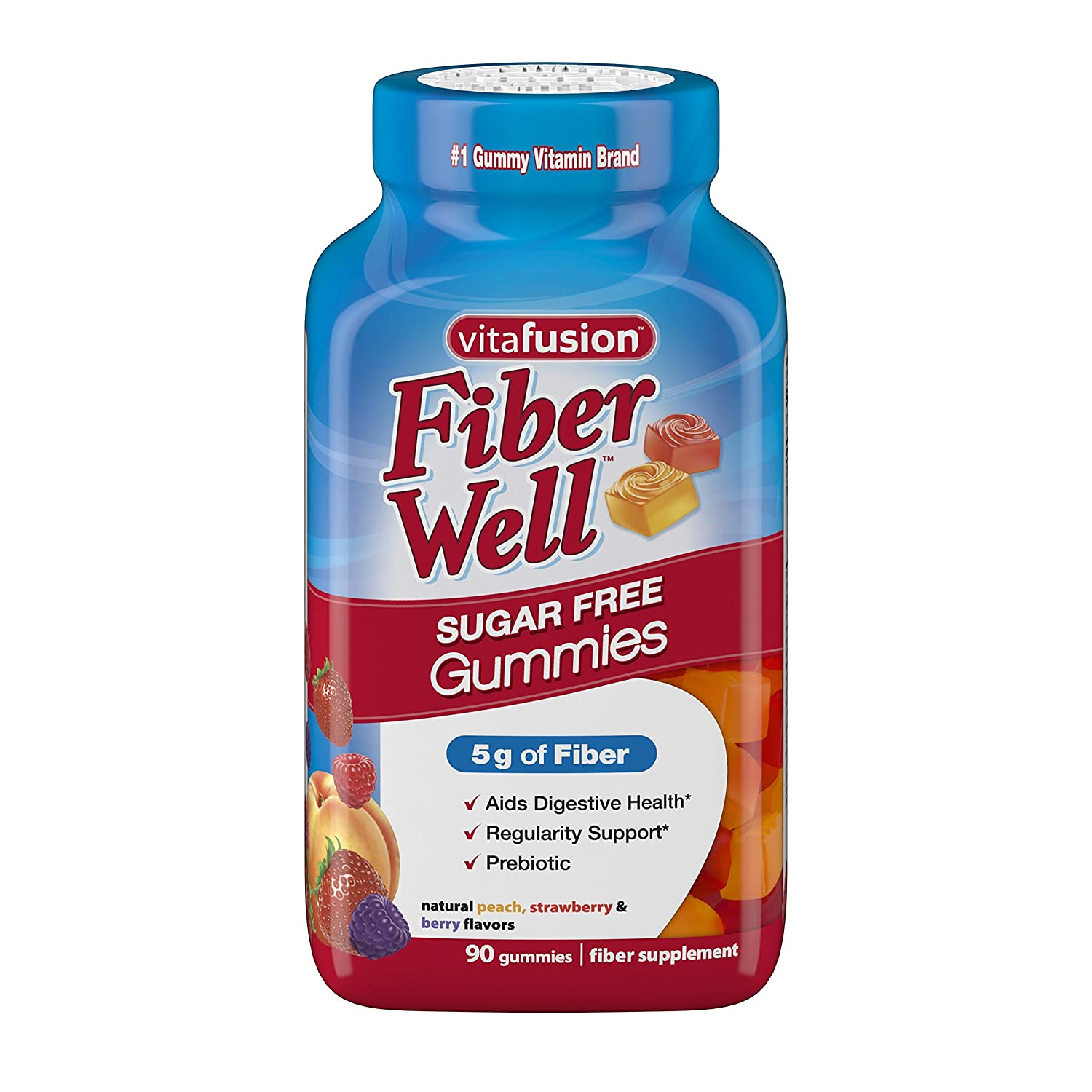 Vitafusion Fiber Well Gummies, 90 Count (Packaging May Vary) 1.00279E+13