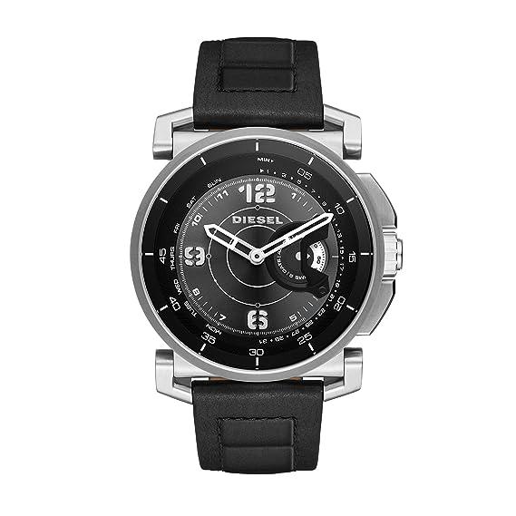 Fossil reloj hombre de digital con correa en cuero ftw4002