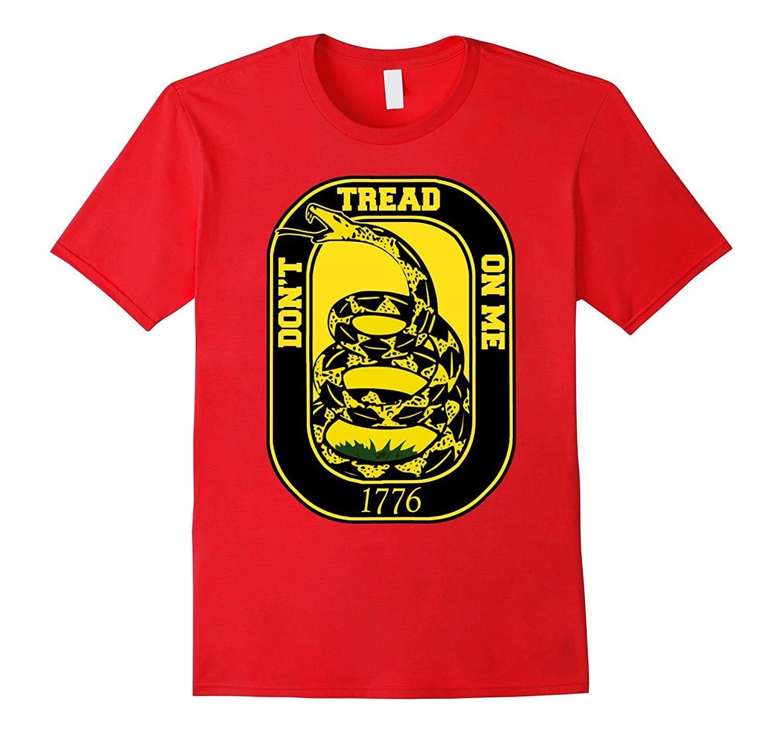 1776 Dont Tread On Me Gadsden Flag Rattlesnake T-Shirt-Vaci
