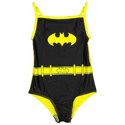 Officiel Filles BATGIRL Bat Logo Super héros Maillot De Bain Natation tailles de 2 à 6 ans