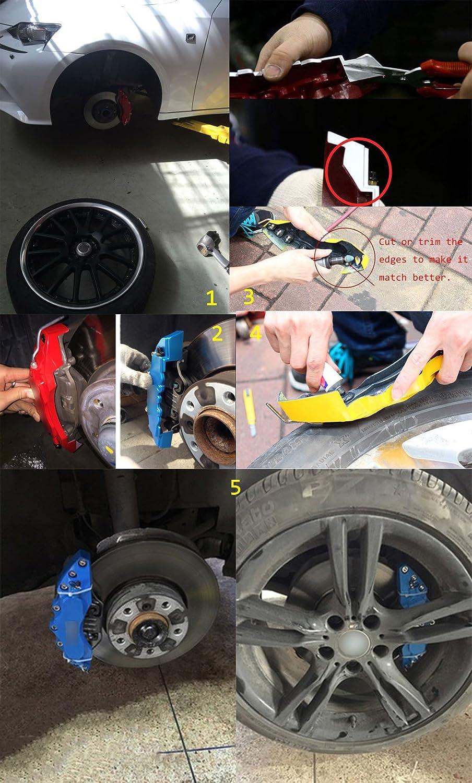 LeadChange 4 x anpassbare Rote Bremssattel-Abdeckungen Kit Black Label AMG f/ür Benz Car Class GLE CLS ML GLA W Bremsen-Styling Dekoration 4 St/ück