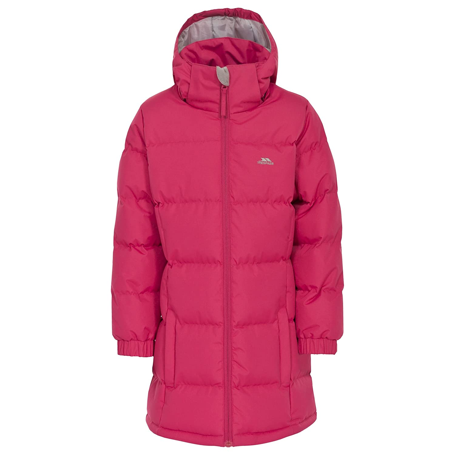 Girls Trespass Padded Jacket with Long Sleeves and A Hood