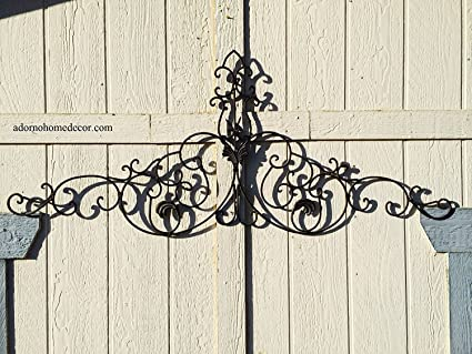 Amazon.com: Large Tuscan Wrought Iron Metal Wall Decor: Home & Kitchen