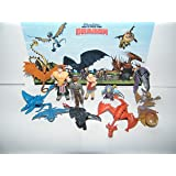 How To Train Your Dragon Figure Set of 12 Mini Toys Party Favors with many Dragons, People and New Characters!